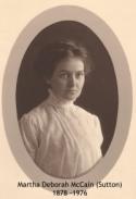 Martha Deborah McCain, 1878 - 1966